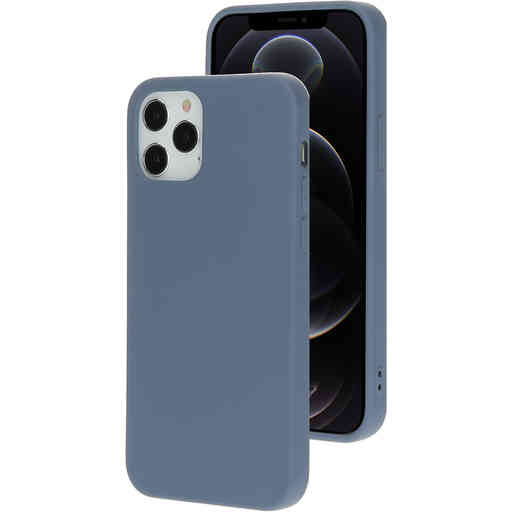 Mobiparts Silicone Cover Apple iPhone 12/12 Pro Royal Grey
