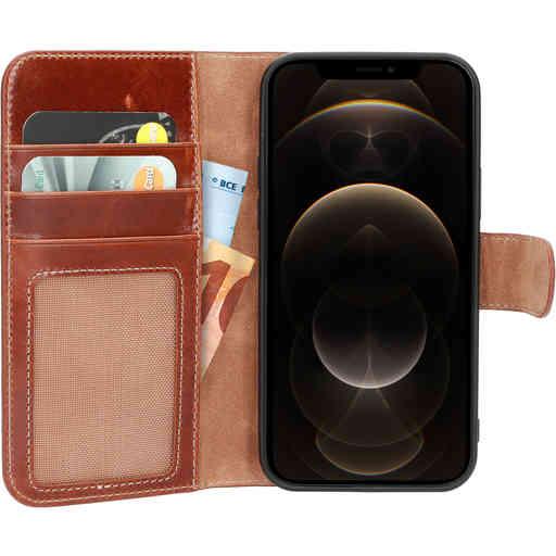 Mobiparts Excellent Wallet Case 2.0 Apple iPhone 12/12 Pro Oaked Cognac