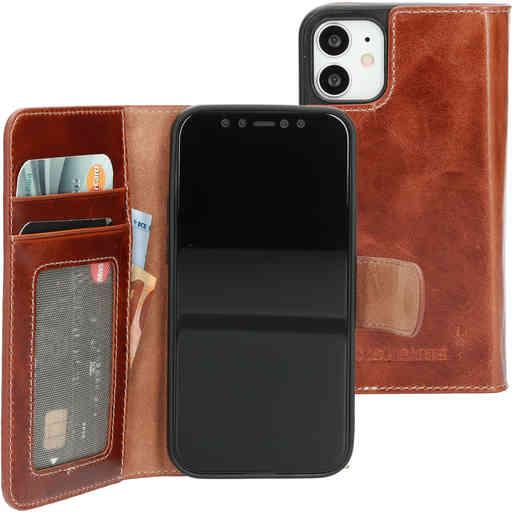 Mobiparts Excellent Wallet Case 2.0 Apple iPhone 12 Mini Oaked Cognac