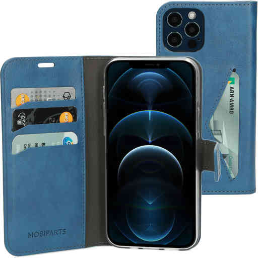 Mobiparts Classic Wallet Case Apple iPhone 12/12 Pro Steel Blue