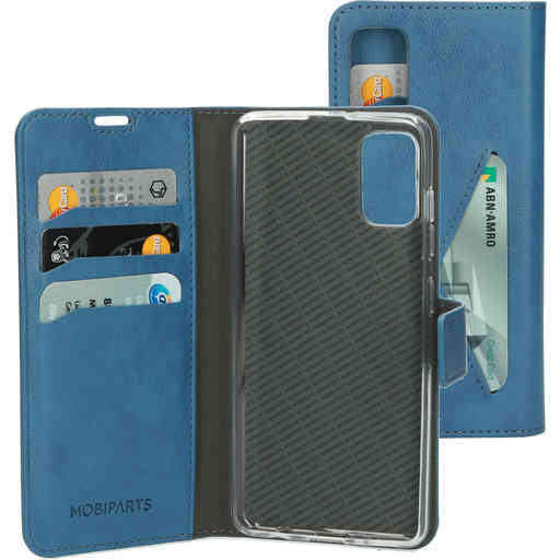 Mobiparts Classic Wallet Case Samsung Galaxy A41 (2020) Steel Blue