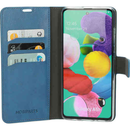 Mobiparts Classic Wallet Case Samsung Galaxy A51 (2020) Steel Blue