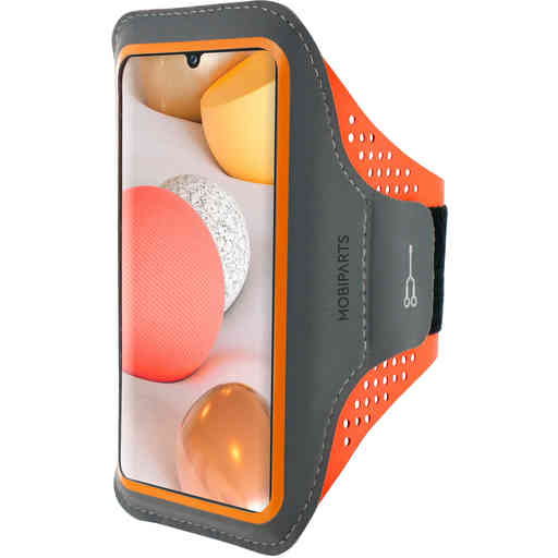 Mobiparts Comfort Fit Sport Armband Samsung Galaxy A42 (2020) Neon Orange