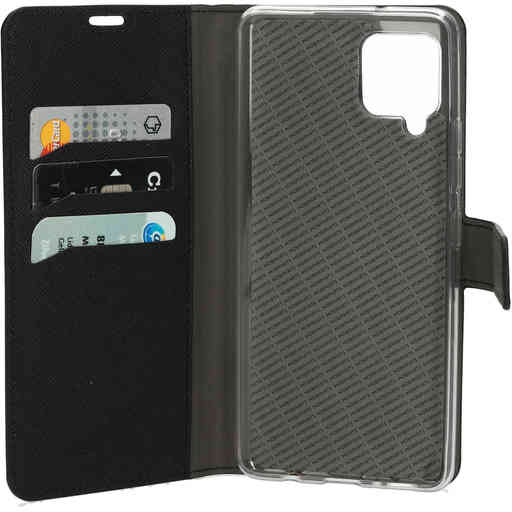Mobiparts Saffiano Wallet Case Samsung Galaxy A42 (2020) Black