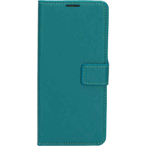 Mobiparts Saffiano Wallet Case Samsung Galaxy A42 (2020) Turquoise