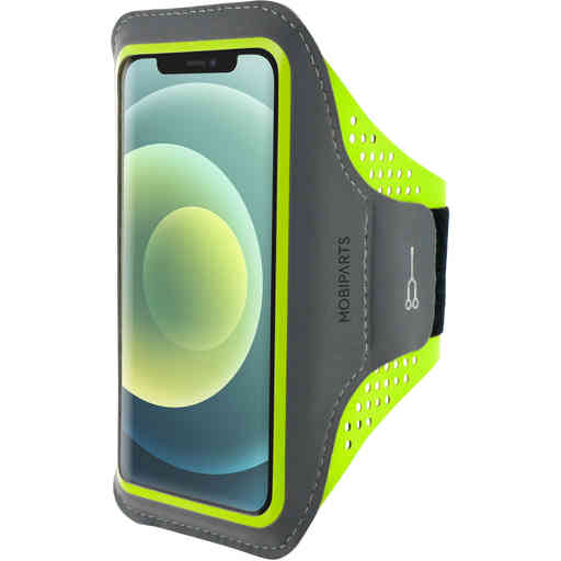 Mobiparts Comfort Fit Sport Armband Apple iPhone 12 Mini Neon Green