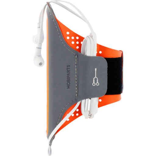 Mobiparts Comfort Fit Sport Armband Apple iPhone 12 Mini Neon Orange