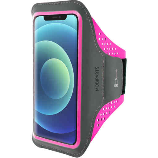 Mobiparts Comfort Fit Sport Armband Apple iPhone 12 Mini Neon Pink