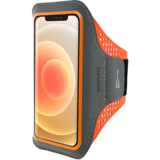 Mobiparts Comfort Fit Sport Armband Apple iPhone 12/12 Pro Neon Orange