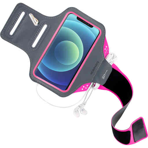 Mobiparts Comfort Fit Sport Armband Apple iPhone 12/12 Pro Neon Pink