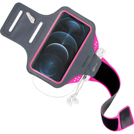 Mobiparts Comfort Fit Sport Armband Apple iPhone 12 Pro Max Neon Pink