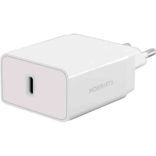 Mobiparts Wall Charger USB-C 20w White (with PD)