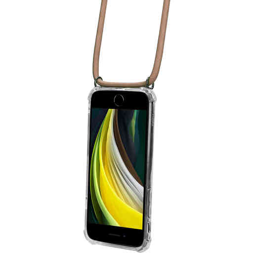 Mobiparts Lanyard Case Apple iPhone 7/8/SE (2020) Nude Cord