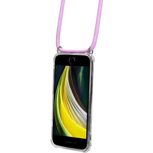 Mobiparts Lanyard Case Apple iPhone 7/8/SE (2020) Violet Cord