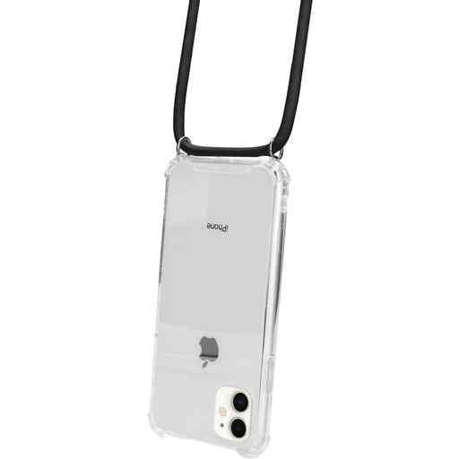 Mobiparts Lanyard Case Apple iPhone 11 Black Cord