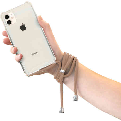 Mobiparts Lanyard Case Apple iPhone 11 Nude Cord