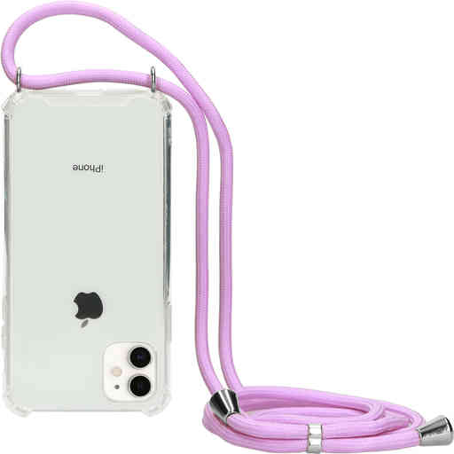 Mobiparts Lanyard Case Apple iPhone 11 Violet Cord