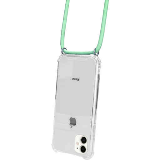 Mobiparts Lanyard Case Apple iPhone 11 Green Cord