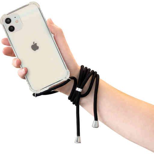 Mobiparts Lanyard Case Apple iPhone 12/12 Pro Black Cord