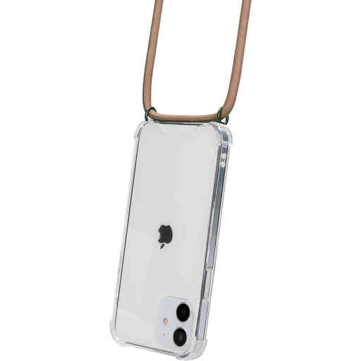 Mobiparts Lanyard Case Apple iPhone 12/12 Pro Nude Cord