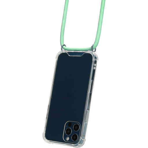Mobiparts Lanyard Case Apple iPhone 12/12 Pro Green Cord