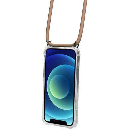 Mobiparts Lanyard Case Apple iPhone 12 Mini Nude Cord