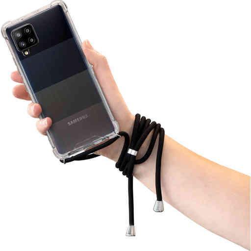 Mobiparts Lanyard Case Samsung Galaxy A42 (2020) Black Cord