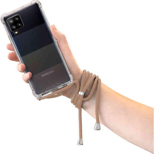 Mobiparts Lanyard Case Samsung Galaxy A42 (2020) Nude Cord