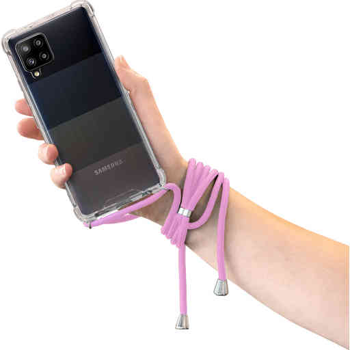 Mobiparts Lanyard Case Samsung Galaxy A42 (2020) Violet Cord