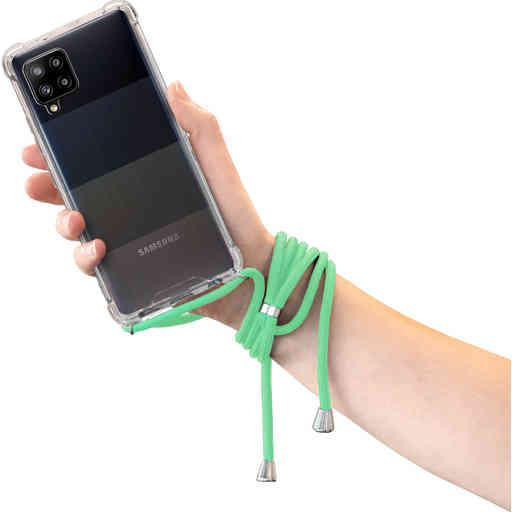 Mobiparts Lanyard Case Samsung Galaxy A42 (2020) Green Cord