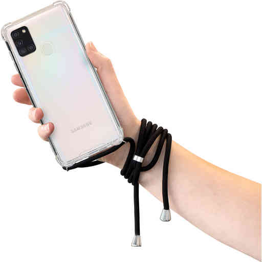 Mobiparts Lanyard Case Samsung Galaxy A21s (2020) Black Cord