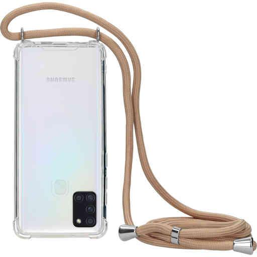 Mobiparts Lanyard Case Samsung Galaxy A21s (2020) Nude Cord