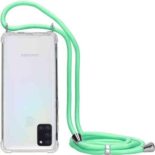 Mobiparts Lanyard Case Samsung Galaxy A21s (2020) Green Cord