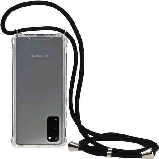 Mobiparts Lanyard Case Samsung Galaxy S20 4G/5G Black Cord