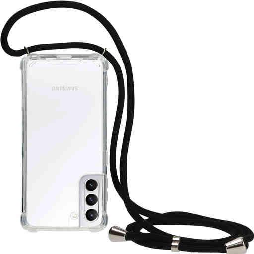 Mobiparts Lanyard Case Samsung Galaxy S21 Black Cord
