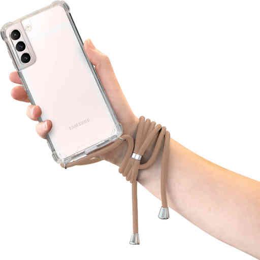 Mobiparts Lanyard Case Samsung Galaxy S21 Nude Cord