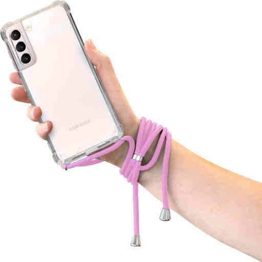 Mobiparts Lanyard Case Samsung Galaxy S21 Violet Cord