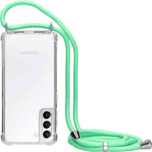 Mobiparts Lanyard Case Samsung Galaxy S21 Green Cord