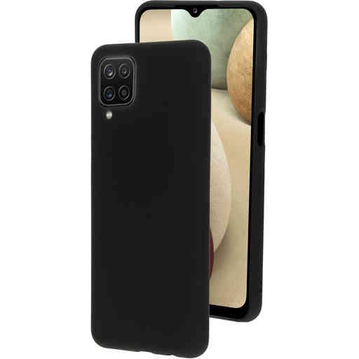 Mobiparts Silicone Cover Samsung Galaxy A12 (2021) Black
