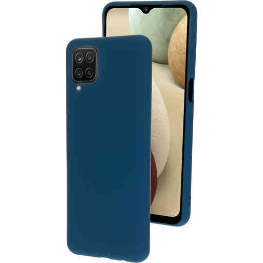 Mobiparts Silicone Cover Samsung Galaxy A12 (2021) Blueberry Blue