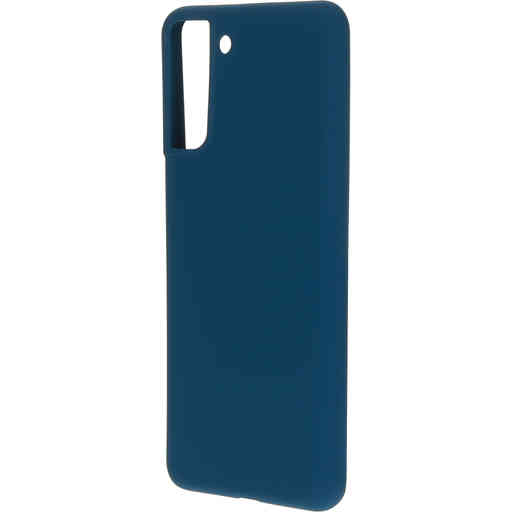 Mobiparts Silicone Cover Samsung Galaxy S21 Plus Blueberry Blue