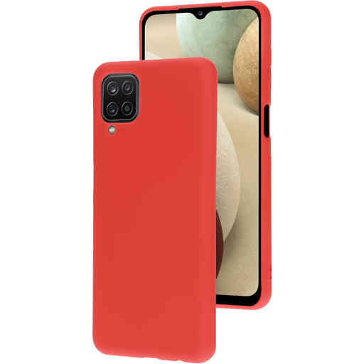 Mobiparts Silicone Cover Samsung Galaxy A12 (2021) Scarlet Red