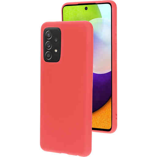 Mobiparts Silicone Cover Samsung Galaxy A52 (2021) Scarlet Red