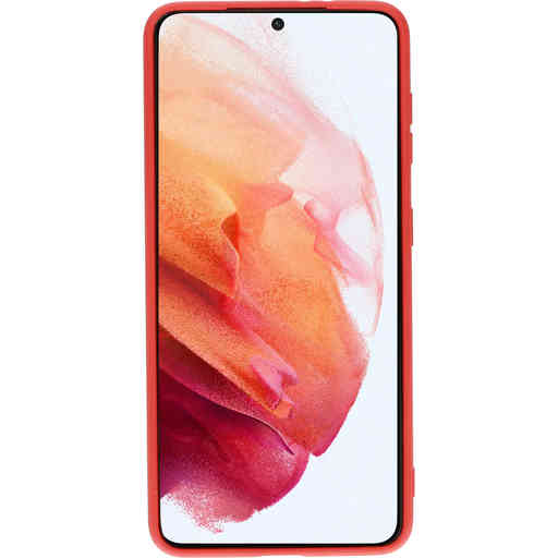 Mobiparts Silicone Cover Samsung Galaxy S21 Scarlet Red