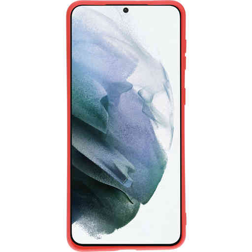 Mobiparts Silicone Cover Samsung Galaxy S21 Plus Scarlet Red