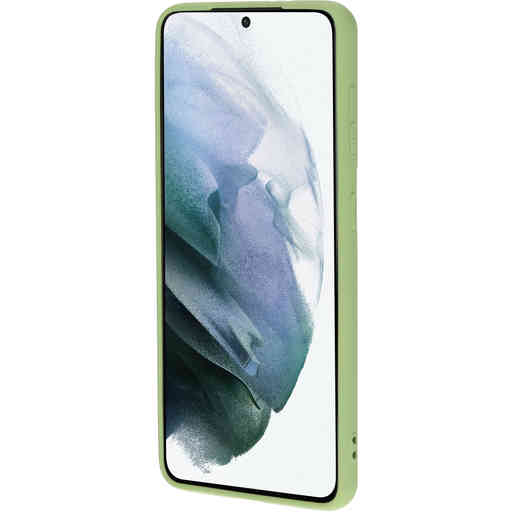 Mobiparts Silicone Cover Samsung Galaxy S21 Pistache Green