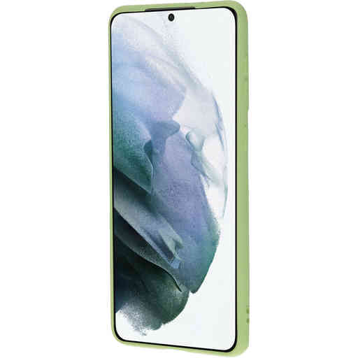 Mobiparts Silicone Cover Samsung Galaxy S21 Plus Pistache Green