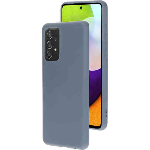 Mobiparts Silicone Cover Samsung Galaxy A52 (2021) Royal Grey