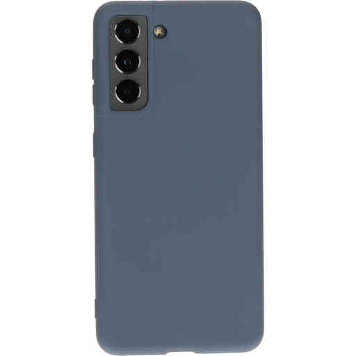 Mobiparts Silicone Cover Samsung Galaxy S21 Royal Grey