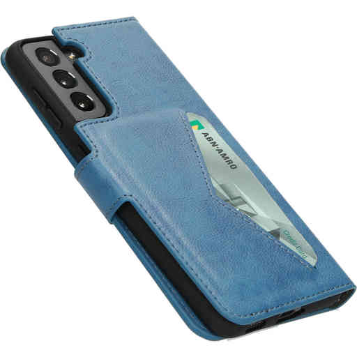 Mobiparts Classic Wallet Case Samsung Galaxy S21 Steel Blue